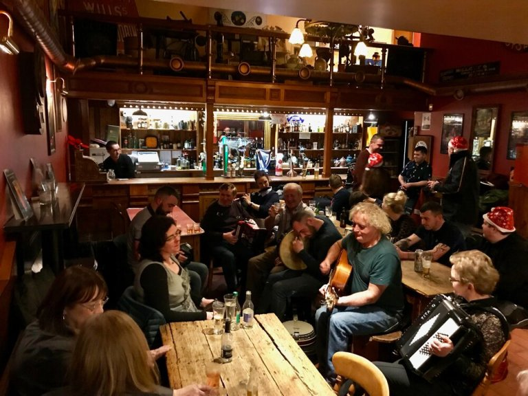 """Be sure to catch a """"Trad Session"""" while in Ireland"""