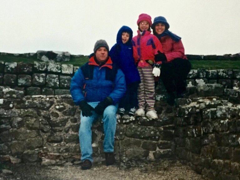 Hadrian's Wall with the family in 1999