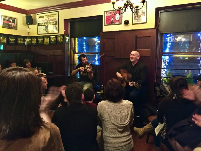 The first stop on the Traditional Irish Music Pub Crawl