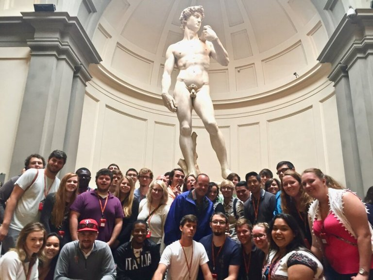 Michelangelo's David with the Tarleton Jazz Ensemble, May 2016