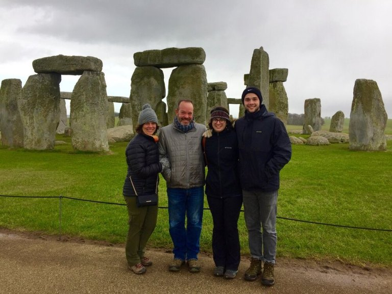 Stonehenge with the family