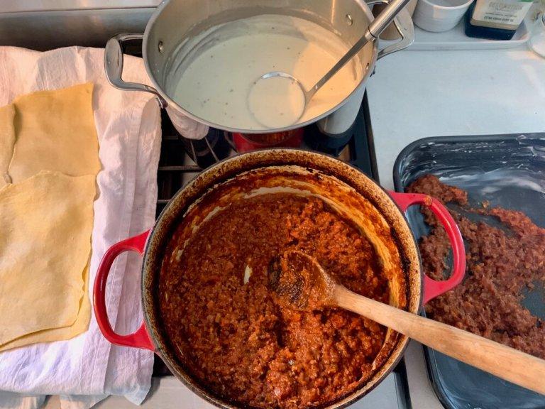 Finally assembling my Lasagna Bolognese