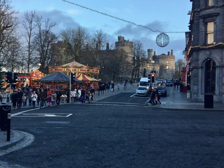 Kilkenny Castle during the holidays