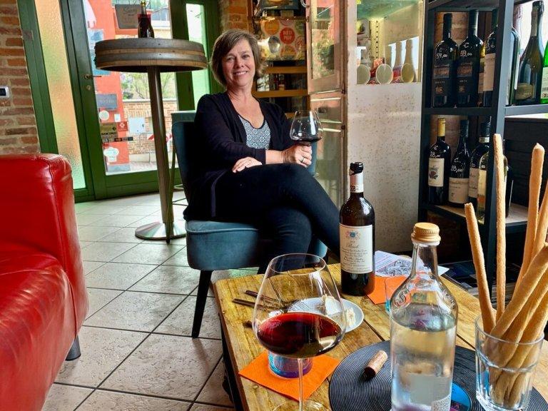 Enjoying a bottle of Elio Altare at  La Vite Turchese