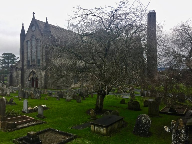 The cemetary at St. Canice Cathedral