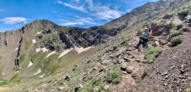Hiking Phantom Terrace in the Sangre de Cristo Mountains, Colorado