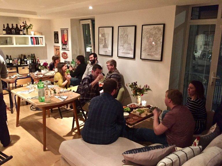 "Celebrating ""Friendsgiving"" in Bristol, England, November 2018"