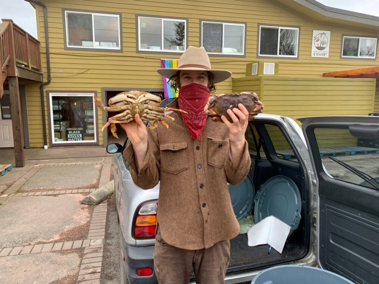 The Crab Man on Orcas Island