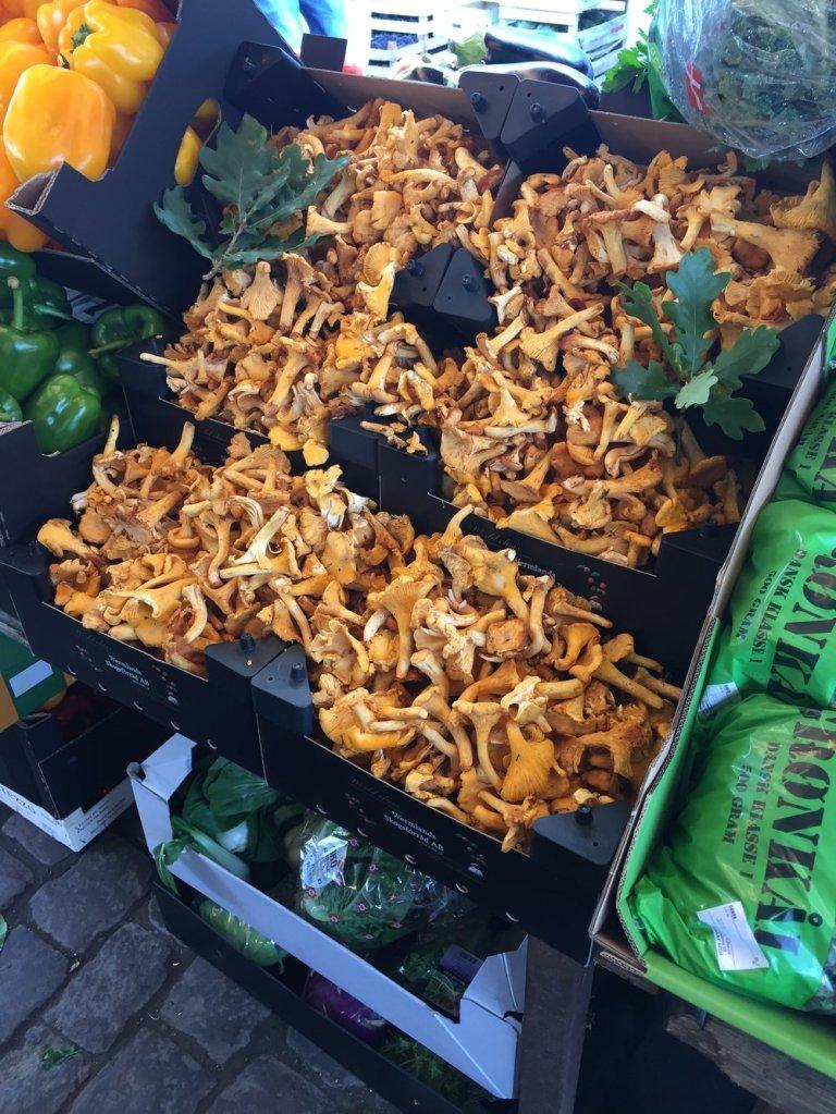 Mushrooms at a market in Copenhagen