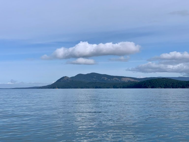 Turtleback Mountain, Orcas Island from the water