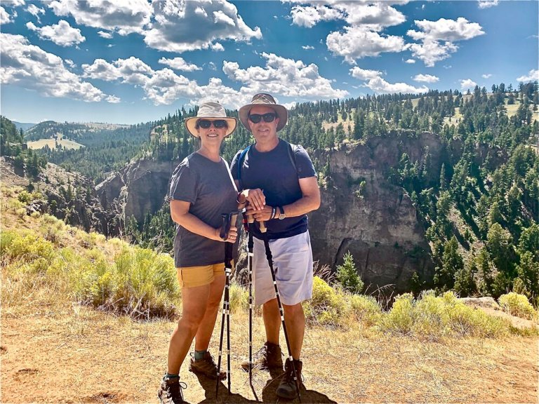 Hiking in Yellowstone National Park   with our Trekology Poles