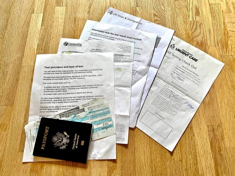 Lots of paperwork to travel to the UK right now