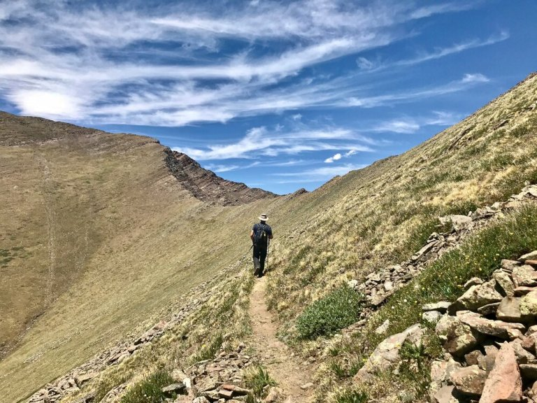 Approaching Venable Pass and Phantom Terrace, Colorado