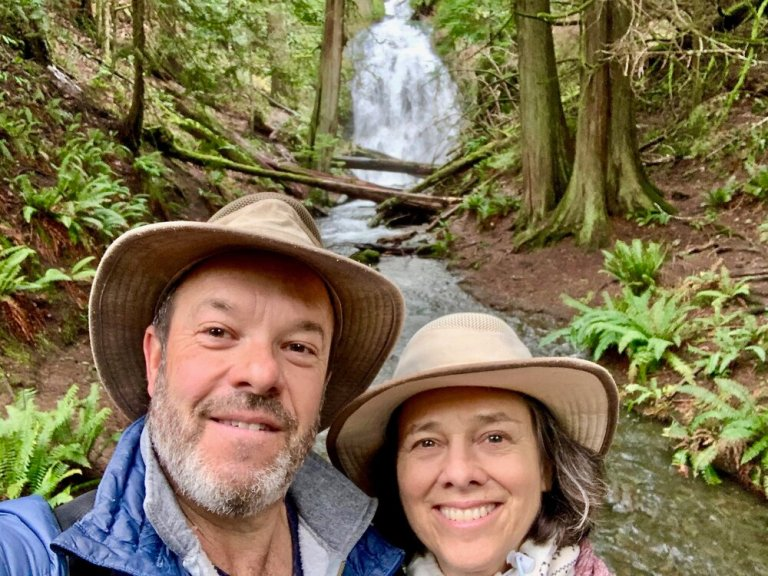 Cascade Falls selfie at Moran State Park!