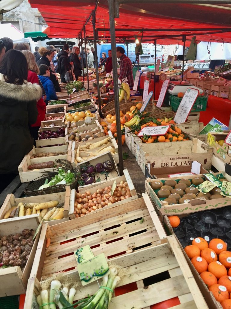 Market day in the Loire Valley, France