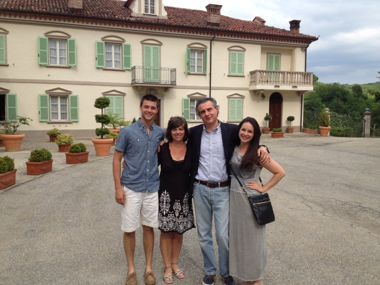 Franco Conterno with the family during our first visit to the Poderi Aldo Conterno estate