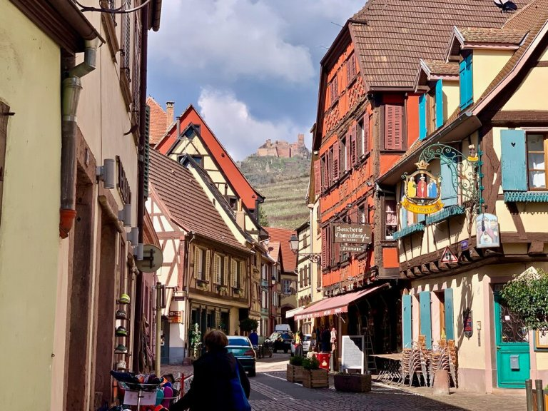 The village of Ribeauville in the Alsace region of France