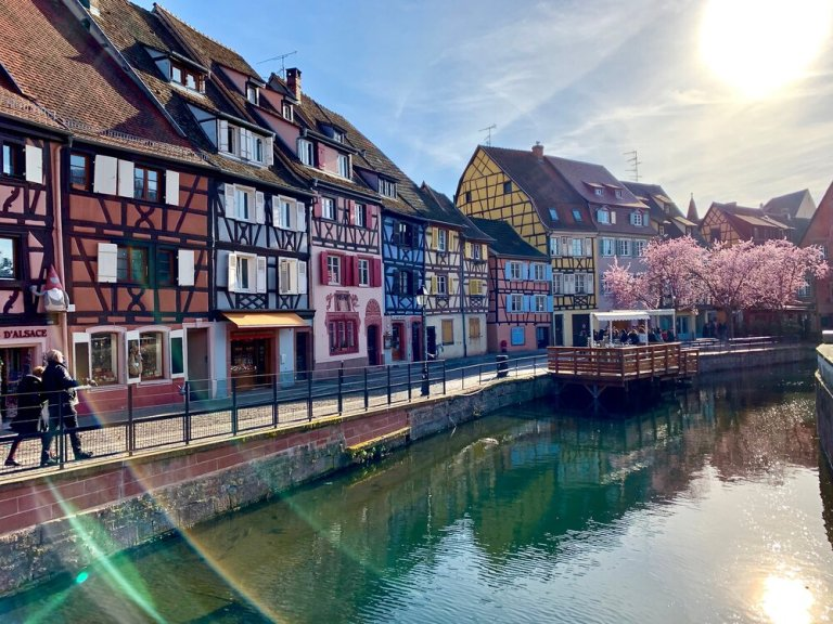 The picture book city of Colmar in the Alsace region of France