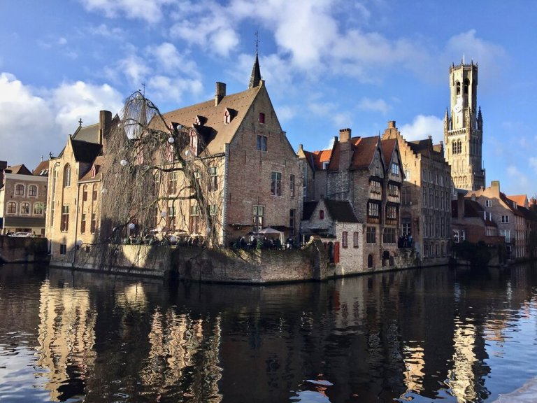 On the canals in Bruges, Belgium