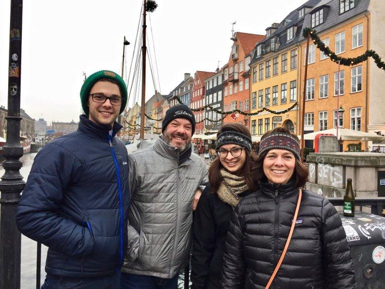 Our family at Nyhavn in Copenhagen