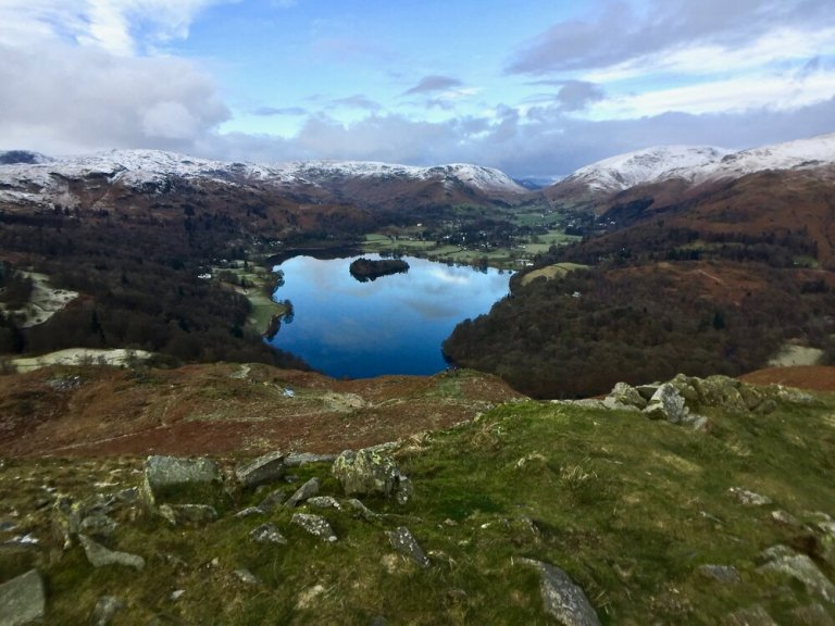 Lake Grasmere in the Lake District of England