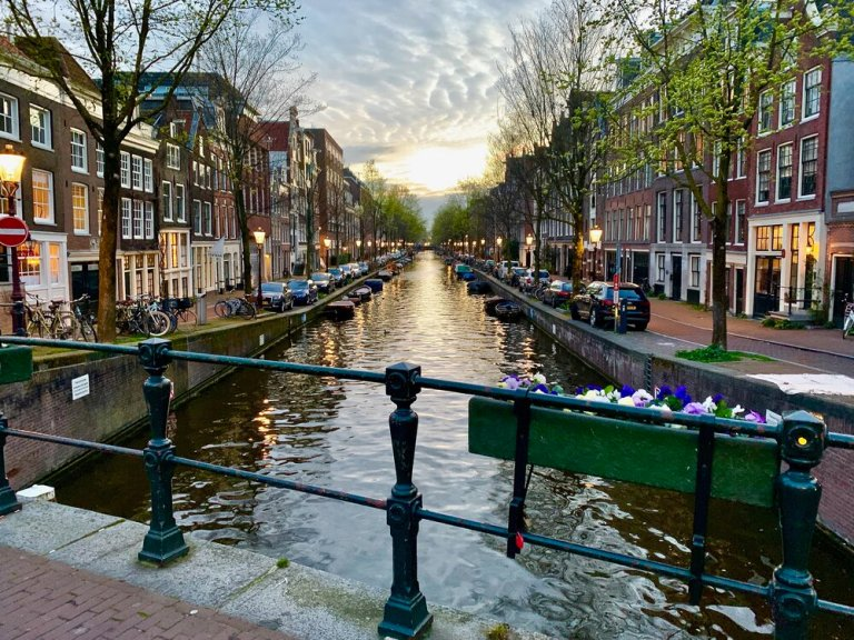 The idyllic canals of Amsterdam