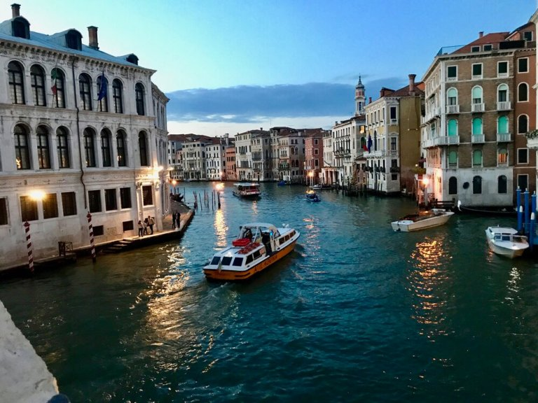 The romantic Grand Canal of Venice, Italy